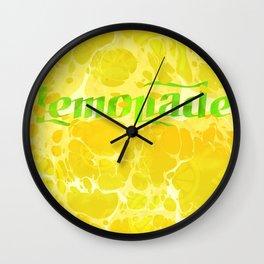 Fresh Lemonade - Abstract Digital Arwork Wall Clock
