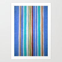 AZTEC BLANKET - BLUE Art Print