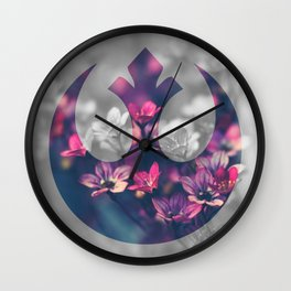 Floral Rebel Alliance Wall Clock