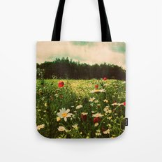 Poppies In Pilling  Tote Bag