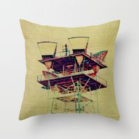 industrial Throw Pillows featuring Industrial  by Johanna Ochs