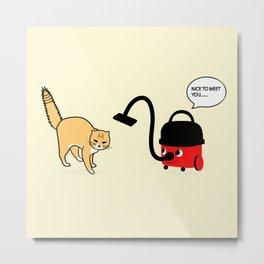 CAT VS HENRY Metal Print