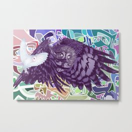 Flying over skulls Metal Print
