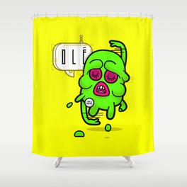 Melty Man Shower Curtain