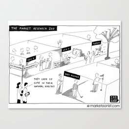 """""""The Market Research Zoo"""" Canvas Print"""