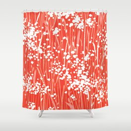 Coral Weeds Shower Curtain
