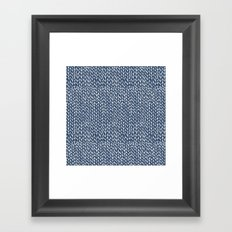 Hand Knit Navy Framed Art Print