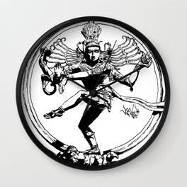 Natraj Dance - Mono Wall Clock