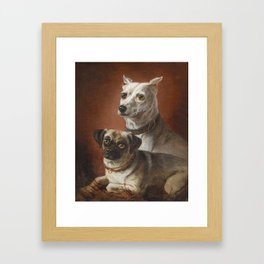 Julius Hamburger (1830-1909) Dog Portraits 2 Framed Art Print