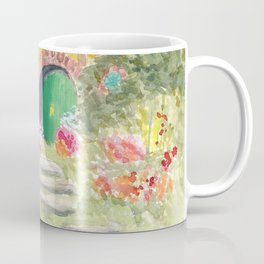 Green Door Underground House in New Zealand Coffee Mug