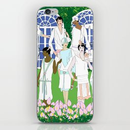 Gatsby Girl Garden Party iPhone Skin