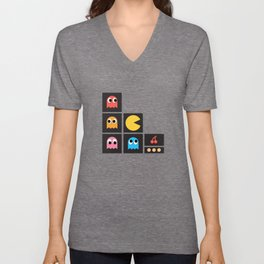 pac man Unisex V-Neck