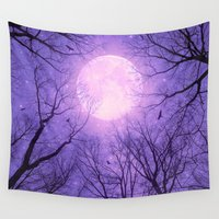 tolkien Wall Tapestries featuring May It Be A Light (Dark Forest Moon II) by soaring anchor designs