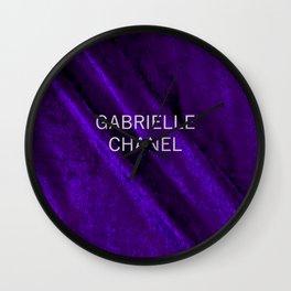 coco gabriell purple velvet edition Wall Clock
