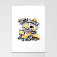 newspaper Stationery Cards featuring Newspaper Taxis by Jemma Banks