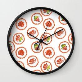 Tasty sushi Wall Clock