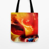 ombre Tote Bags featuring Ombre by AcerbicAndrewArt