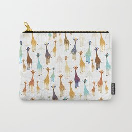 Giraffe of a different Color: white background Carry-All Pouch