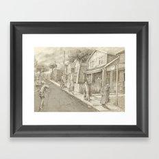 The Night Gardener - Grimloch Lane  Framed Art Print