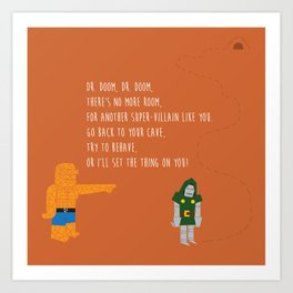 Pop Culture Nursery Rhymes: Dr. Doom Art Print