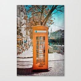 Phone booth Canvas Print