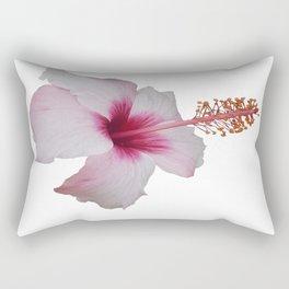 Pale Pink Hibiscus Tropical Flower No Text Rectangular Pillow