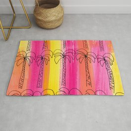 Live For the Moment (palm trees pattern summer beach tropical) Rug