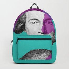 Goethe - teal and purple portrait Backpack