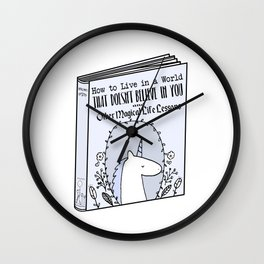 Magical Life Lessons Wall Clock