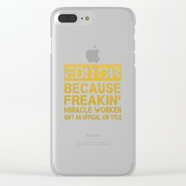 EDITOR Clear iPhone Case