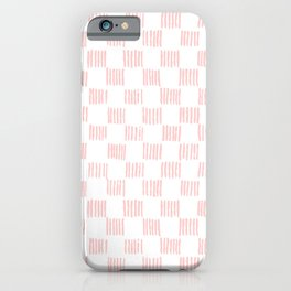 Hatch marks in Pink iPhone Case