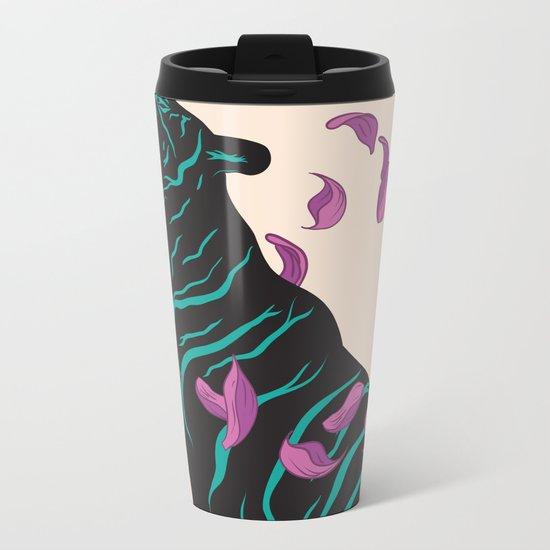 Black tiger Metal Travel Mug
