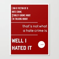 michael scott Canvas Prints featuring Michael Scott on Hate Crimes (The Office) by thebuccanear