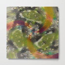 Stranger Clock Whirlwind Kaleidoscope Rewhirled and Bled Metal Print