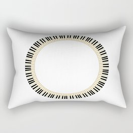 Pianom Keys Circle Rectangular Pillow