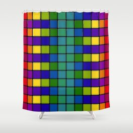 Out of Focus Chex Shower Curtain