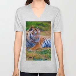 Extraordinary Animals - Tiger 1 Unisex V-Neck