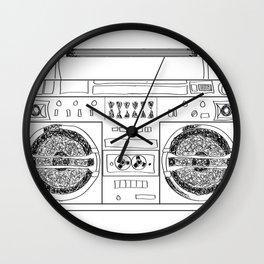 Boooombox Wall Clock