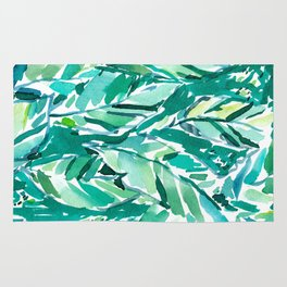 BANANA LEAF JUNGLE Green Tropical Rug