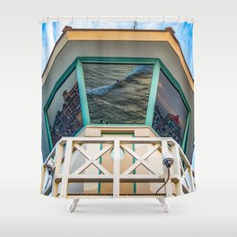 Surf City Reflects  Shower Curtain