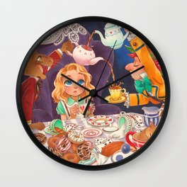 The Mad Tea Party Wall Clock