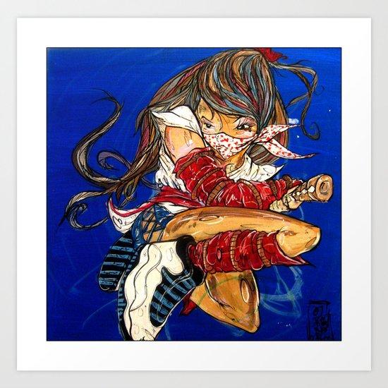 ninja 10 Art Print