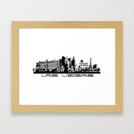 Las Vegas skyline black Framed Art Print