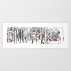 shaftesbury, monmouth and neal, london Art Print