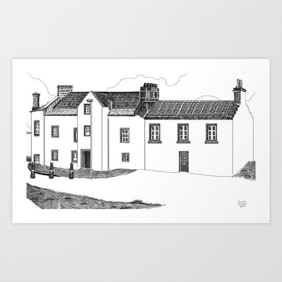 John McDouall Stuart Museum in Dysart, Scotland Art Print