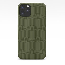 Art Deco Arch Pattern VIII iPhone Case