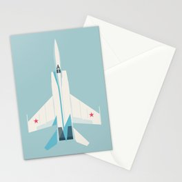 MiG-25 Foxbat Interceptor Jet Aircraft - Sky Stationery Cards