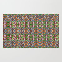 african Area & Throw Rugs featuring african pattern by d.ts