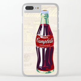 Soup Cola Clear iPhone Case