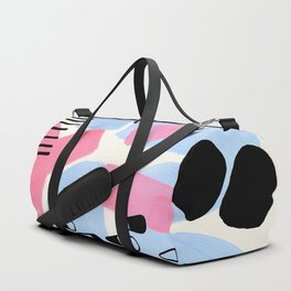 Fun Colorful Abstract Mid Century Minimalist Pink Periwinkle Cow Udder Milk Organic Shapes Duffle Bag